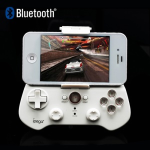 iPega Wireless Bluetooth Game Controller for iPhone iPad Samsung Android PCs Etc Games - White