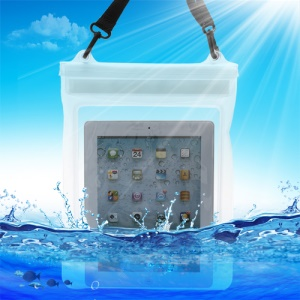 Underwater Tablet Waterproof Case Dry Bag for iPad 4 3 2 with Strap (Size: 265x 245mm) - Transparent