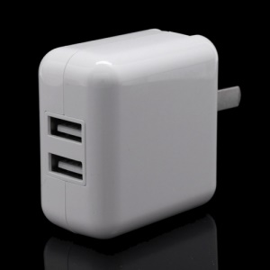 Dual USB Travel Charger Power Adapter for iPad 4 3 2 / iPhone 5 4S iPad 3 4 - US Plug