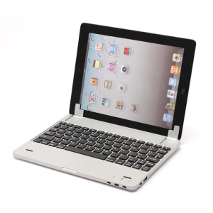 Bluetooth 3.0 Wireless Alumium Keyboard Magnetic Slot Stand with Powerbank Inside for iPad 4 / 3 / 2