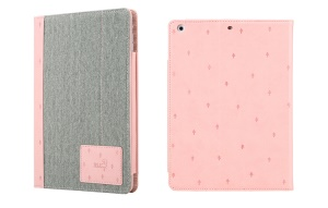 Pink 8thdays Anns Forest Series for iPad Air Smart Leather Diary Stand Case