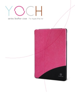 Nillkin YOCH Series Smart Wake Sleep Leather Case for iPad Air 5 w/ Stand;Red