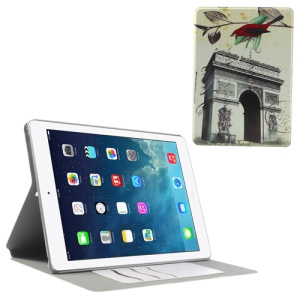 Triumphal Arch Folio Stand Smart Leather Case Cover for iPad Air w/ Card Slots