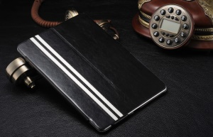Black Ultra Slim Crazy Horse Smart Leather Case with Stand for iPad Air 5