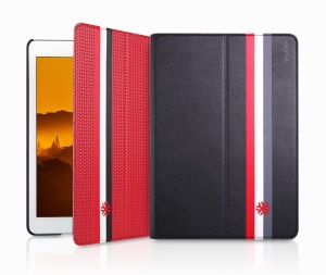 Yoobao One Case Two Styles Reversible Magic Leather Case for iPad Air - Red / Black