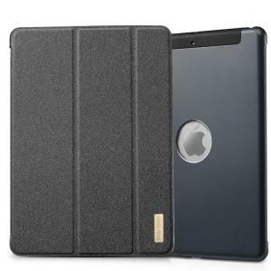 TakeFans Sharp Series for iPad Air Smart Aluminum Alloy Leather Stand Cover - Black