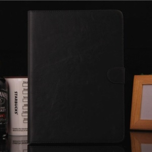 Textured PU Leather Magnetic Case w/ Stand for iPad Air - Black