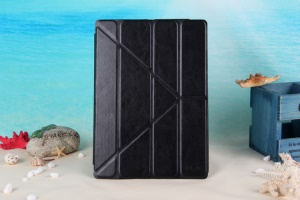 KLX England Series Smart Retro Leather Flip Case Stand for iPad Air -  Black