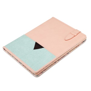 ROCK Peace Series Smart Leather Stand Case for iPad Air - Cyan / Pink