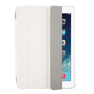 White Four-fold Leather Smart Cover for iPad Air w/ Detachable Companion Case
