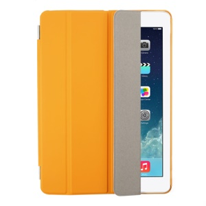 Orange Four-fold Leather Smart Case for iPad Air w/ Detachable Companion Cover