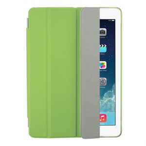 Green Four-fold Leather Smart Case for iPad Air w/ Detachable Companion Cover
