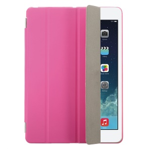 Rose Four-fold Leather Smart Cover for iPad Air w/ Detachable Companion Shell Case