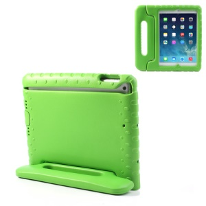 For iPad Air 5 Portable Kids Protective EVA Foam Case with Handle & Stand - Green