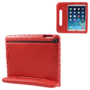 For iPad Air 5 Portable Kids Protective EVA Foam Shell w/ Handle & Stand - Red