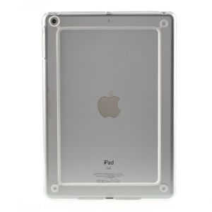 Backless PC + TPU Bumper Combo Case for iPad Air - Transparent / White