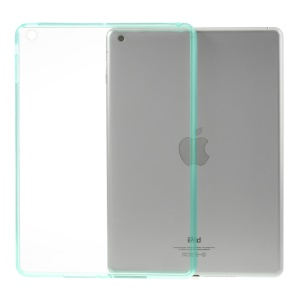For iPad Air 5 Crystal Clear Acrylic + TPU Hybrid Cover - Cyan