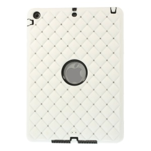 Diamond Starry Sky Silicone & PC Hybrid Cover for iPad Air w/ Built-in Screen Protector - White