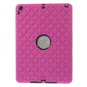 Diamond Starry Sky Silicone & PC Protecror Case for iPad Air w/ Built-in Screen Protector - Rose