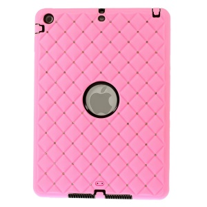 Diamond Starry Sky Silicone & PC Combo Case for iPad Air 5 w/ Built-in Screen Protector - Pink