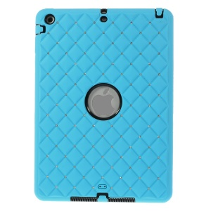 Diamond Starry Sky Silicone & PC Combo Cover for iPad Air 5 w/ Built-in Screen Protector - Baby Blue
