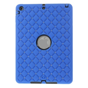 Diamond Starry Sky Silicone & PC Tablet Case for iPad Air 5 w/ Built-in Screen Protector - Dark Blue