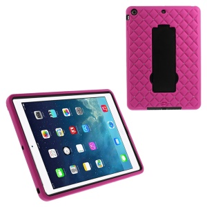 For iPad Air Rhinestone Starry Sky Silicone & PC Combo Case w/ Kickstand & Built-in Screen Protector - Rose