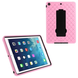 Rhinestone Starry Sky Silicone & PC Kickstand Hybrid Shell for iPad Air w/ Built-in Screen Protector - Pink