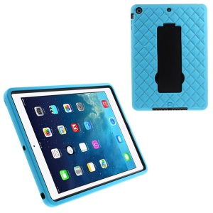 Rhinestone Starry Sky Silicone & PC Kickstand Hybrid Case for iPad Air w/ Built-in Screen Protector - Light Blue