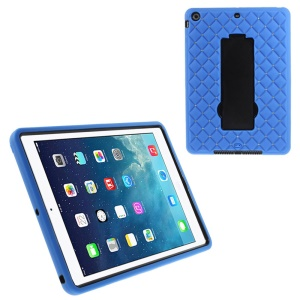 Rhinestone Starry Sky Silicone & PC Kickstand Hybrid Cover for iPad Air w/ Built-in Screen Protector - Deep Blue