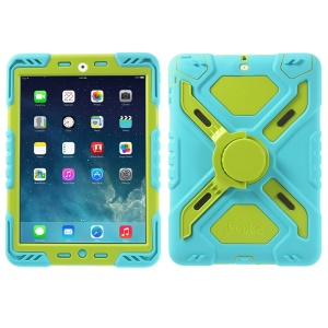 Pepkoo Spider Series for iPad Air 5 Silicone PC Extreme Heavy Duty Shell - Green / Blue
