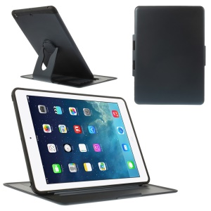 For iPad Air 360 Degree Rotary Stand Plastic & TPU Flip Cover - Deep Blue