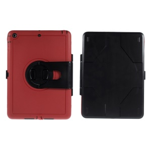 For iPad Air 360 Degree Rotary PC Hard Cover Shell w/ Transparent Screen Protector - Red