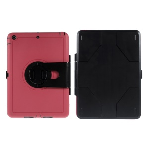 For iPad Air 360 Degree Rotary PC Hard Cover Shell w/ Transparent Screen Protector - Rose