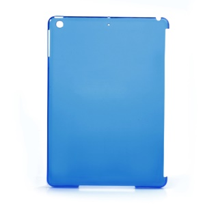 Translucent Blue Plastic Companion Back Case for iPad Air Smart Cover