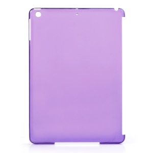 Translucent Purple Plastic Companion Back Case for iPad Air Smart Cover