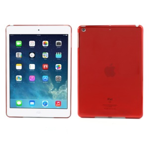Smooth Clear Crystal Back Case for iPad Air - Transparent Red