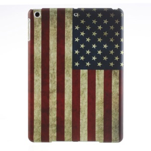 For iPad Air 5 Retro USA National Flag Matte Hard Back Case