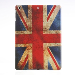 For iPad Air 5 Vintage UK Flag Rubberized Hard Case Shell