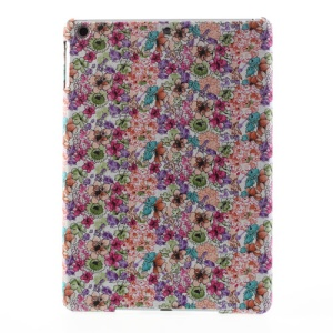 Colorful Flowers Cloth Coated Protective Hard Case for iPad Air
