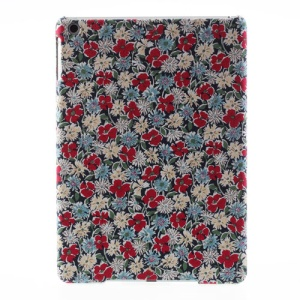 Showy Daisy & Red Flowers Cloth Skin Hard Cover for iPad Air 5