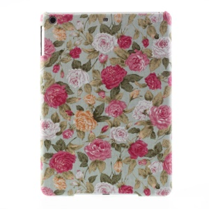 Blooming Roses Pattern Cloth Skin Slim Plastic Cover for iPad Air 5