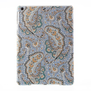 For iPad Air Wave Floral Pattern Cloth Coated Hard Case