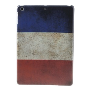 Retro Flag of France Hard Plastic Case for iPad Air 5