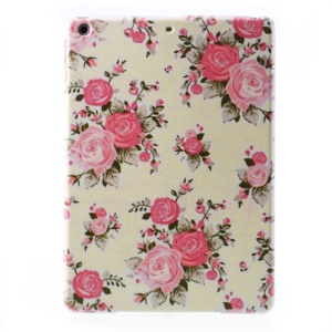 For iPad Air 5 Pretty Rose Blossom Hard Case Shell