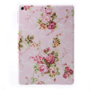 For iPad Air 5 Peony Flower on Pink Backround Hard Protective Cover