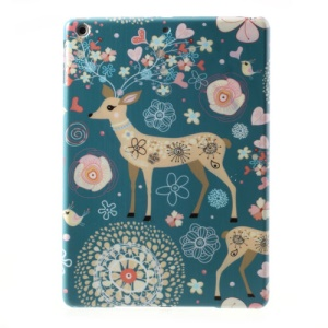 Beautiful Flower & Deer Pattern Slim Hard Shell for iPad Air 5