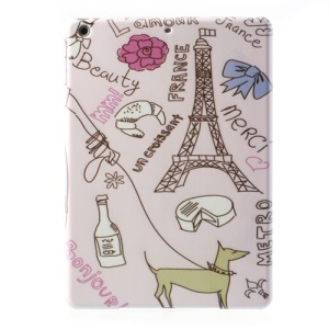 France Eiffel Tower Painting Pattern for iPad Air 5 Cheap Hard Case