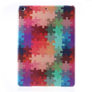 Colorful Jigsaw Puzzle Pattern for iPad Air 5 Hard Plastic Cover