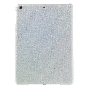 Flash Sequins Leather Coated Hard Back Case for iPad Air - Silver